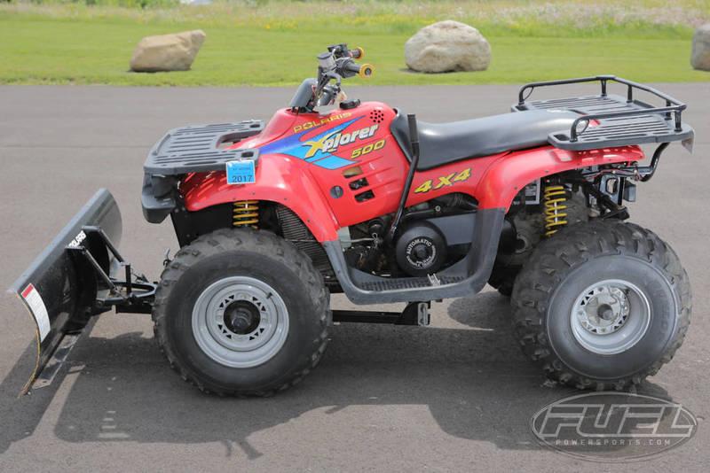 $2,987, 1997 Polaris Xplorer 500 with plow