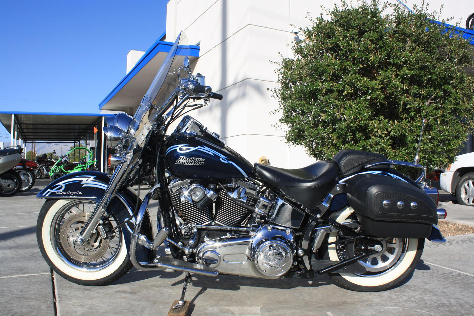 2007 Harley Davidson Flstn Softail Deluxe With Factory